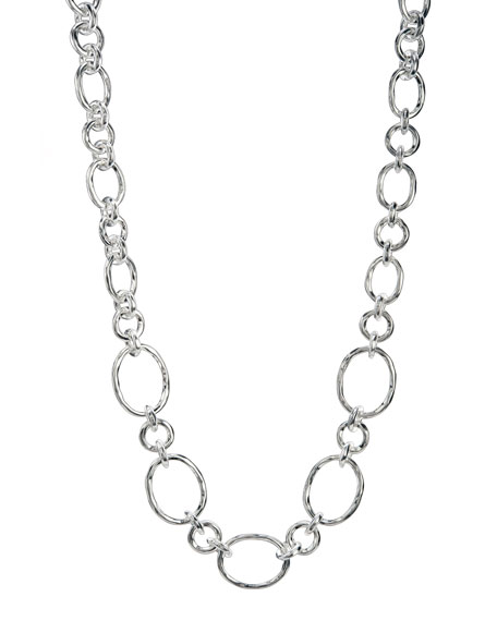 Silver Graduated-Link Necklace
