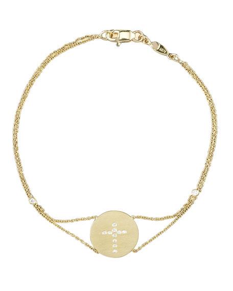 Exclusive Pave Cross Medallion Bracelet