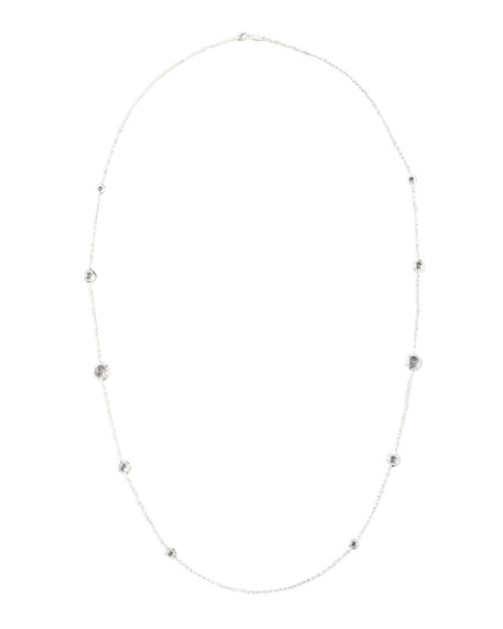 "Lollipop Clear Quartz Necklace, 37""L"