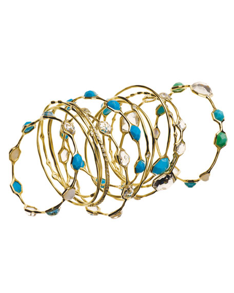 Small Five-Stone Bangle