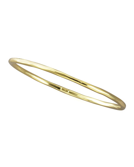 SKINNY THIN FACETED BANGLE