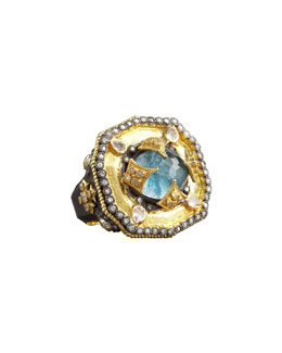 Armenta Heraldica Decagon Ring