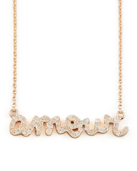 ROSE GLD SMALL AMOUR NECKLAC
