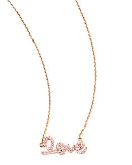 Sydney Evan Pink Sapphire Love Necklace