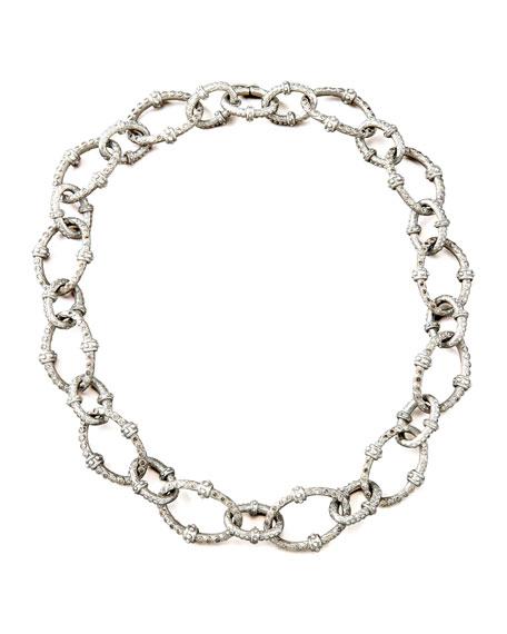 Pave Diamond-Link Necklace, Large
