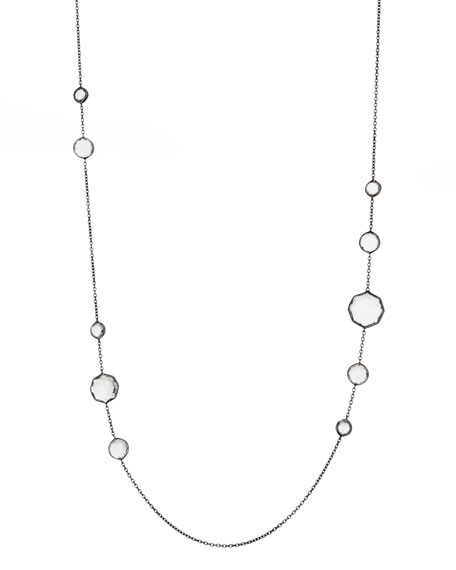 STERLING SLV 10 STN NECKLACE