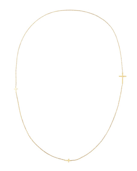 """Integrated Cross Necklace, 36""""L"""