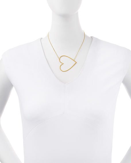 Integrated Heart Pendant Necklace
