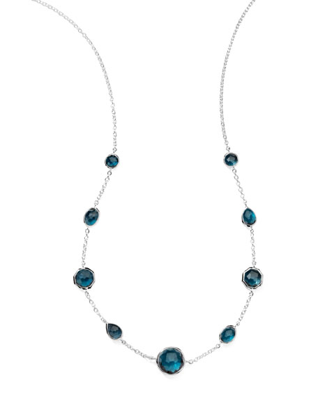 London Blue Topaz Station Necklace