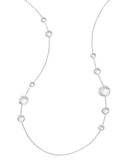 Clear Quartz Station Necklace