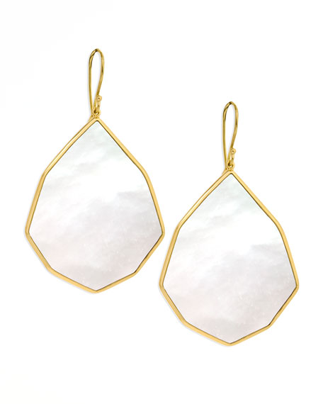 Angled Teardrop Earring, Mother-of-Pearl