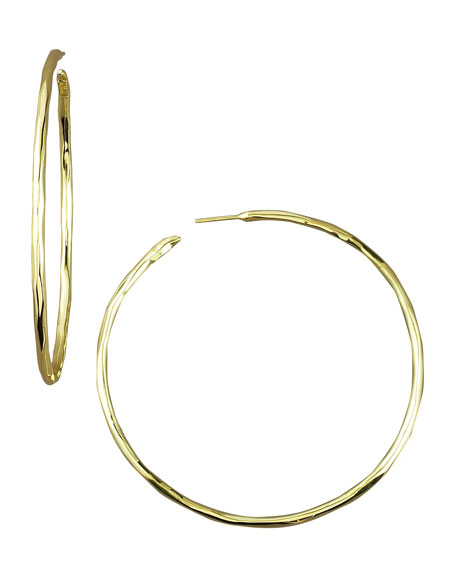 Thin Glamazon Hoop Earrings, Large