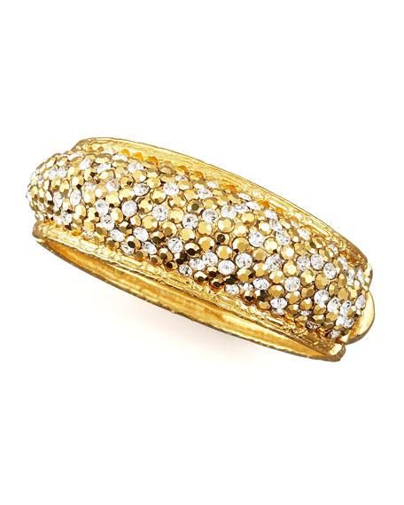 Pave-Crystal Bracelet, Golden