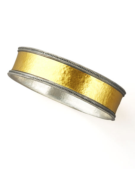 Mixed Metal Bangle, Wide