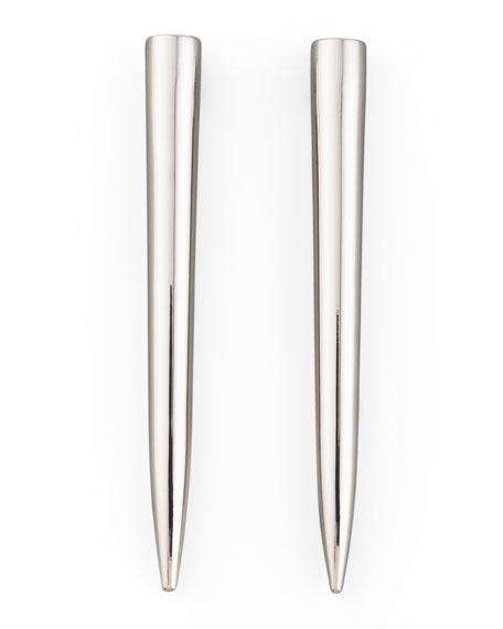 Silver-Plated Spike Earrings