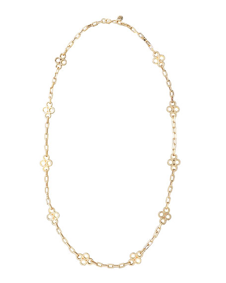 Clover-Station Necklace, Gold