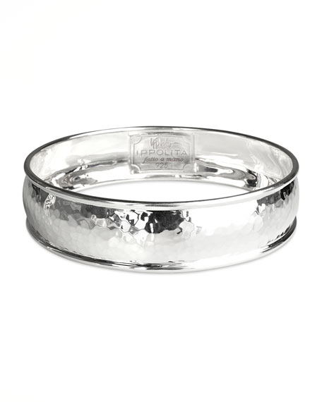 SOLID NARROW HAMMERED BANGLE