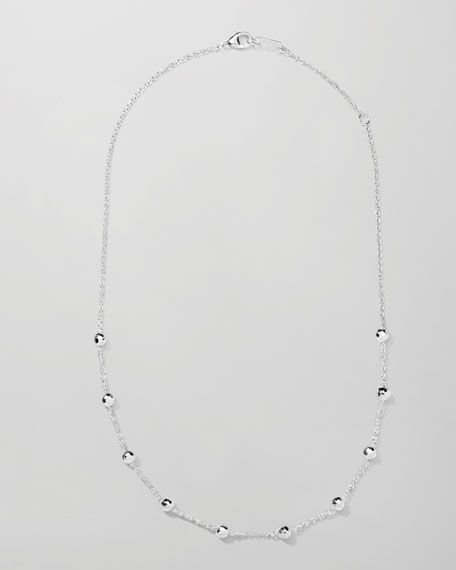 MINI HAMMERED BALL NECKLACE