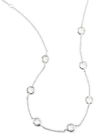 "Quartz Station Necklace, 18""L"