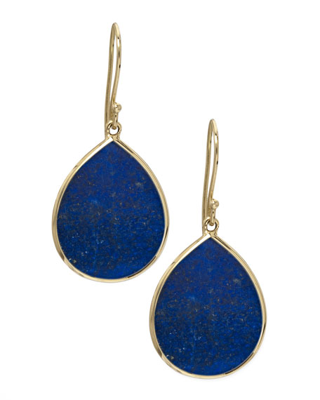 Lapis Teardrop Earrings, Large
