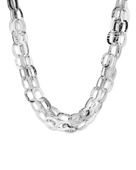 Multi-Strand Flat Link Necklace
