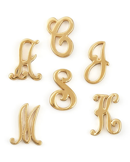 Gold Initial Earring Left