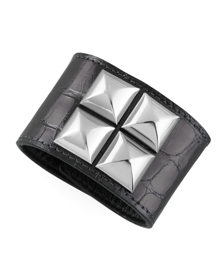 Studded Alligator Cuff