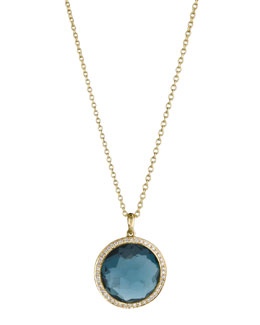 Ippolita London Blue Topaz Lollipop Pendant Necklace, Mini