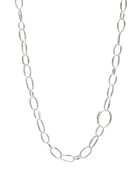 "Delicate Silver Chain Necklace, 36""L"