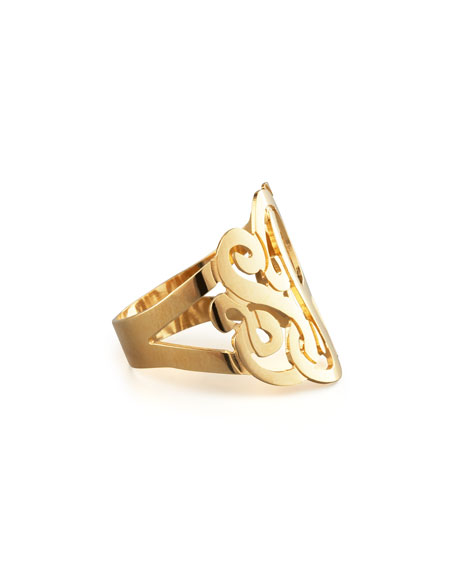 Jennifer Zeuner Three-Initial Monogram Ring hh9Uu