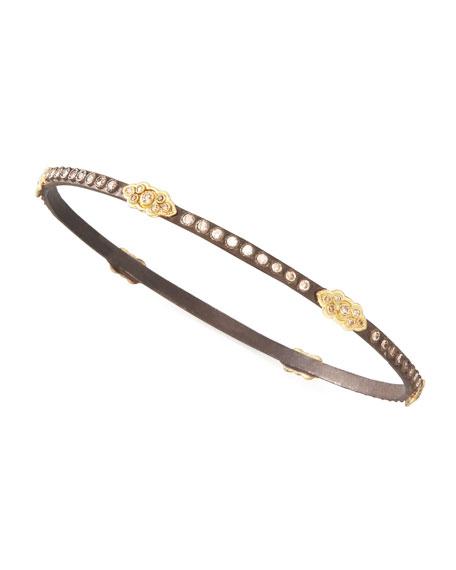 Oxidized Diamond Scrolls Bracelet