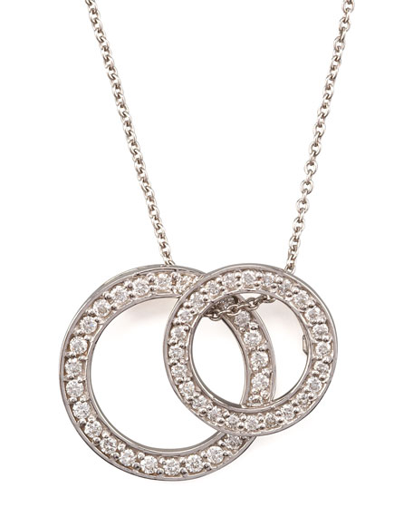 Two-Circle Pendant Necklace