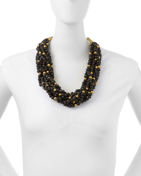 Mpira Dogo Multi-Strand Necklace, Dark Horn
