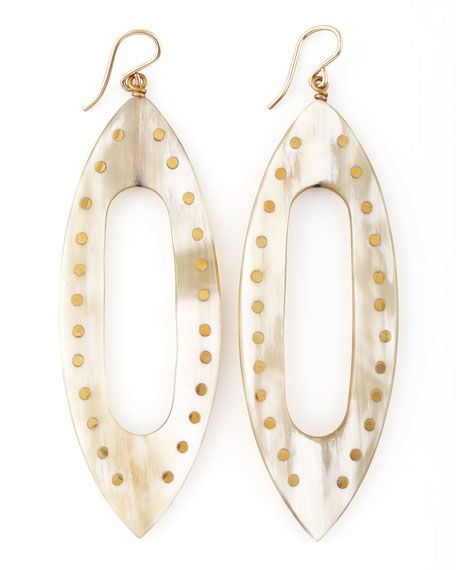 Kuacha Earrings, Light Horn