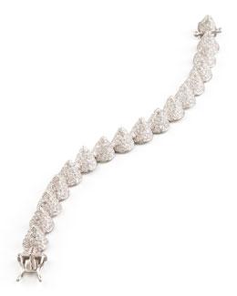 Small Pave Cone Bracelet, Silver