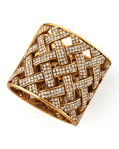 Pave Basketweave Cuff