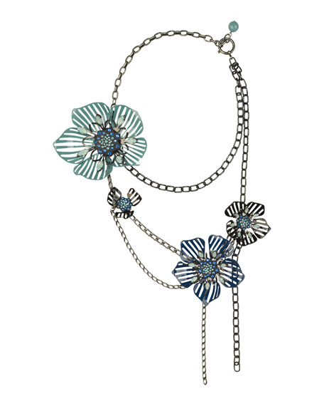 Multi-Strand Flower Necklace