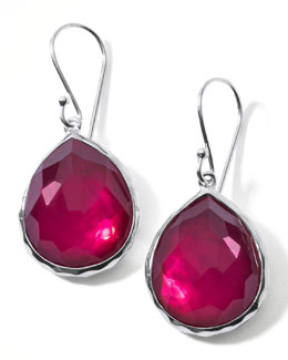 Ippolita Raspberry Doublet Drop Earrings, Mini