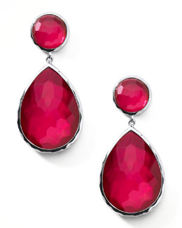 Ippolita Raspberry Teardrop Post Earrings