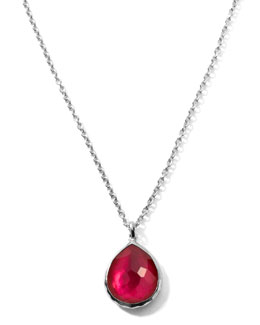 Ippolita Raspberry Teardrop Pendant Necklace