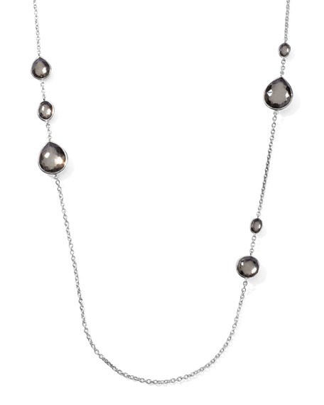 "Pyrite Station Necklace, 32""L"