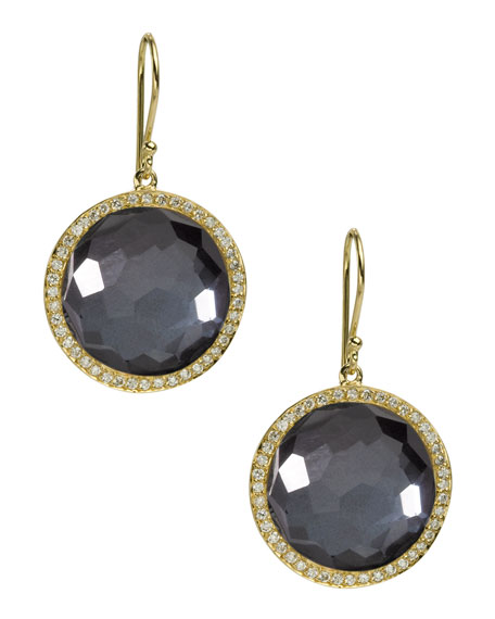 Diamond & Hematite Lollipop Earrings