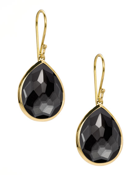 Rock Candy Teardrop Earrings, Hematite