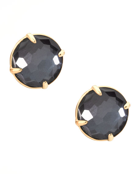 Hematite Gelato Stud Earrings