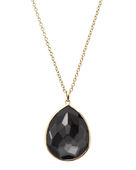 Rock Candy Pendant Necklace, Hematite
