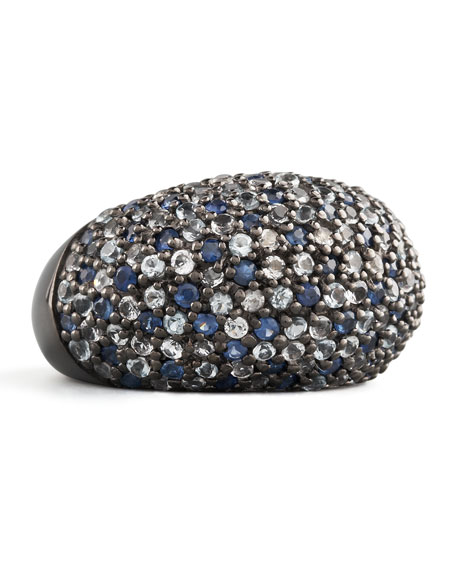 Stardust Pave Sapphire Ring, Ice