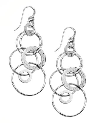Silver Multi-Link Jet-Set Earrings