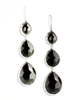 Ippolita Triple Teardrop Earrings, Onyx