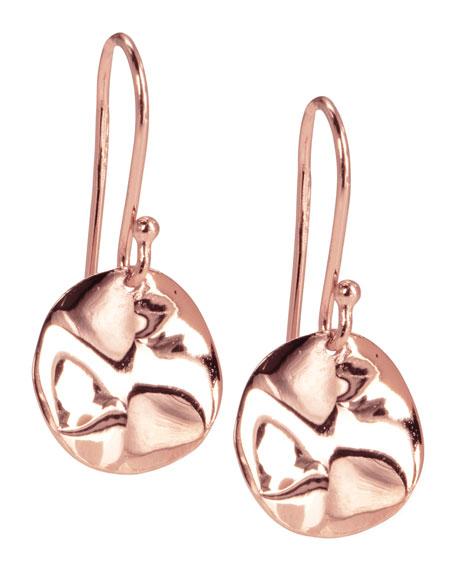 Mini Rose Wavy Disc Earrings