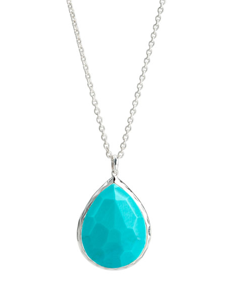 Large Drop Pendant, Turquoise